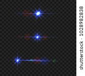 blue light flare set isolate on ...   Shutterstock .eps vector #1028982838