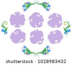 vector floral frames with...   Shutterstock .eps vector #1028983432