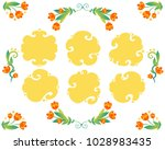 vector floral frames with...   Shutterstock .eps vector #1028983435