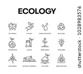 ecology icon set concept | Shutterstock .eps vector #1028983576