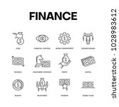 finance icon set concept | Shutterstock .eps vector #1028983612