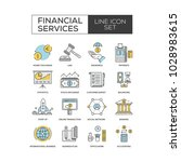 financial services icon set | Shutterstock .eps vector #1028983615