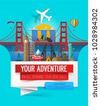 adventure travel banner concept ... | Shutterstock .eps vector #1028984302