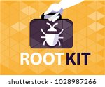root kit malicious software | Shutterstock .eps vector #1028987266