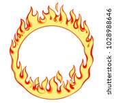 fiery ring isolated on white.... | Shutterstock .eps vector #1028988646