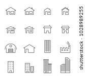 house line icon set vector... | Shutterstock .eps vector #1028989255