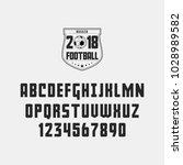 set of football  soccer   ... | Shutterstock .eps vector #1028989582