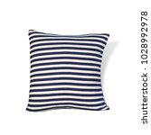 blue pillow isolated on white... | Shutterstock . vector #1028992978