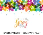 spring background with vibrant... | Shutterstock .eps vector #1028998762
