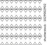 seamless geometric ornamental... | Shutterstock .eps vector #1029002902