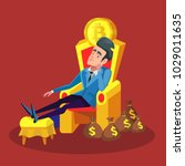 rich successful businessman... | Shutterstock .eps vector #1029011635