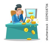 successful businessman mining... | Shutterstock .eps vector #1029018736