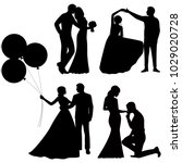 the bride and groom. set.... | Shutterstock .eps vector #1029020728