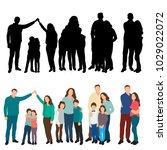 isometric people family | Shutterstock .eps vector #1029022072