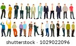 vector  isometric people set men | Shutterstock .eps vector #1029022096