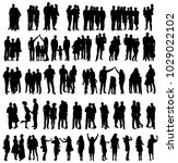 vector  silhouette family  set | Shutterstock .eps vector #1029022102
