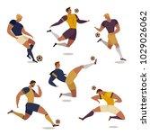 football soccer player set of... | Shutterstock .eps vector #1029026062