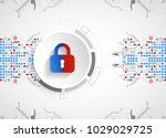protection concept. protect... | Shutterstock .eps vector #1029029725