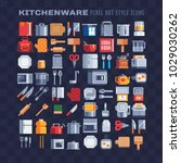 kitchenware and kitchen... | Shutterstock .eps vector #1029030262