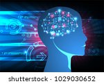artificial intelligence ... | Shutterstock .eps vector #1029030652