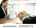 businesspeople working and... | Shutterstock . vector #1029030772
