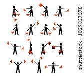 alphabet   flag semaphore...   Shutterstock .eps vector #1029037078