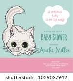 baby shower card template with...   Shutterstock .eps vector #1029037942
