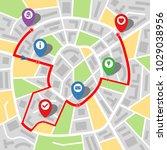 city map of an imaginary city... | Shutterstock .eps vector #1029038956