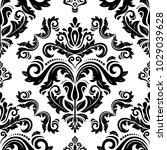 orient vector classic pattern.... | Shutterstock .eps vector #1029039628