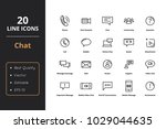 20 chat line icons | Shutterstock .eps vector #1029044635