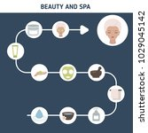 beauty and spa salon... | Shutterstock .eps vector #1029045142