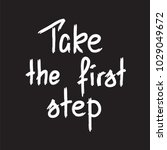 take the first step ... | Shutterstock .eps vector #1029049672