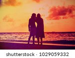 young romantic loving couple... | Shutterstock . vector #1029059332