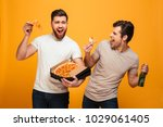 portrait of a two satisfied... | Shutterstock . vector #1029061405