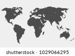 dotted world map. | Shutterstock .eps vector #1029066295