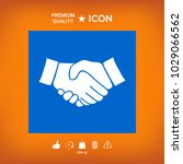 handshake symbol icon   Shutterstock .eps vector #1029066562