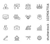 business icons  vector   Shutterstock .eps vector #1029067516