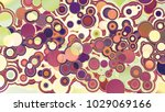 circles abstract style colorful ... | Shutterstock . vector #1029069166