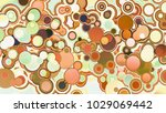 circles abstract style colorful ... | Shutterstock . vector #1029069442