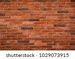brick wall texture on rustic... | Shutterstock . vector #1029073915