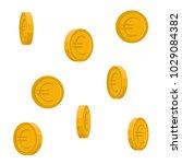 vector image of euro coins... | Shutterstock .eps vector #1029084382