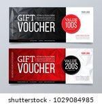 gift voucher design template....   Shutterstock .eps vector #1029084985