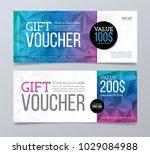gift voucher design template.... | Shutterstock .eps vector #1029084988
