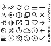 different line icons set symbol ... | Shutterstock .eps vector #1029090676
