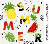 trendy seamless  memphis style... | Shutterstock .eps vector #1029091825