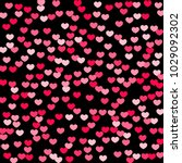 pink hearts random falling on... | Shutterstock .eps vector #1029092302