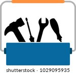 toolbox icon vector art... | Shutterstock .eps vector #1029095935
