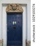 ancient engraved wooden  doors... | Shutterstock . vector #1029103276