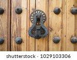 ancient engraved wooden  doors... | Shutterstock . vector #1029103306