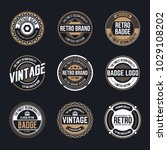circle vintage and retro badge... | Shutterstock .eps vector #1029108202